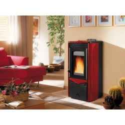 "Stufa a pellet ""DUCHESSA"" colore bordeaux  by Nordica Extraflame"