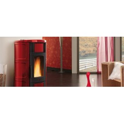 "Stufa a pellet ""ISIDE IDRO 2.0"" ceramica  by Nordica Extraflame"