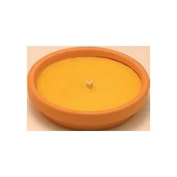 CITRONELLA in coccio con stoppino antivento 10 pz