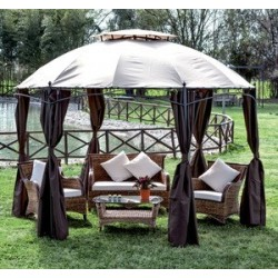 GAZEBO IN ALLUMINIO DECORATO GOTIC ESAGONALE CM 350