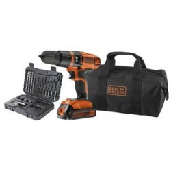 TRAPANO A PERCUSSIONE A BATTERIA B&D 18V LITIO EGBL188S32 BORSA E ACCESSORI Black & Decker