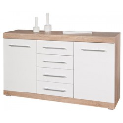 KIT BUFFET LUBLIN 4C+2A ROVERE/BIANCO LACCATO
